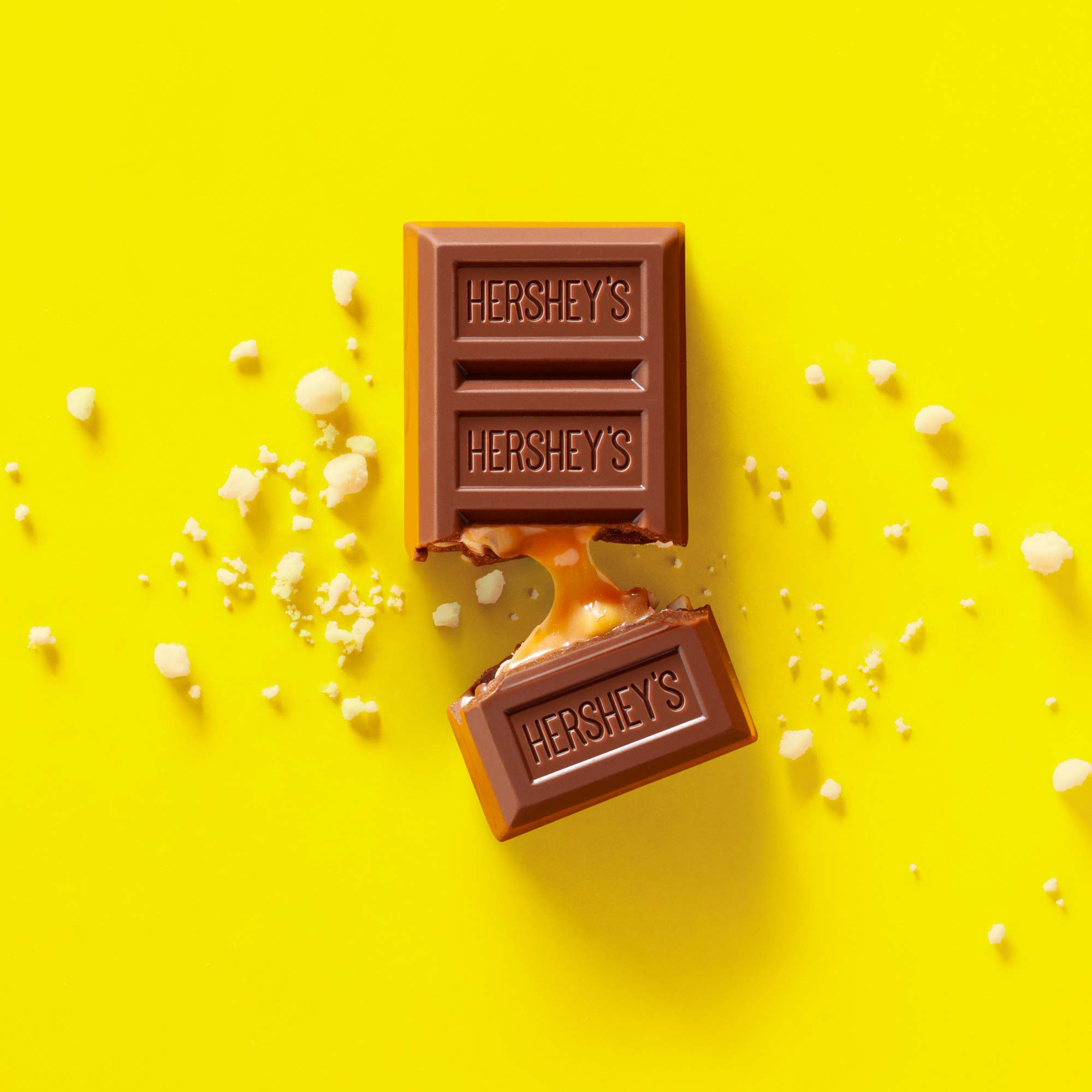 Hershey's Cookey Layer Crunch carmel food product photography shot in Boulder, Colorado for Crispin Porter + Bogusky