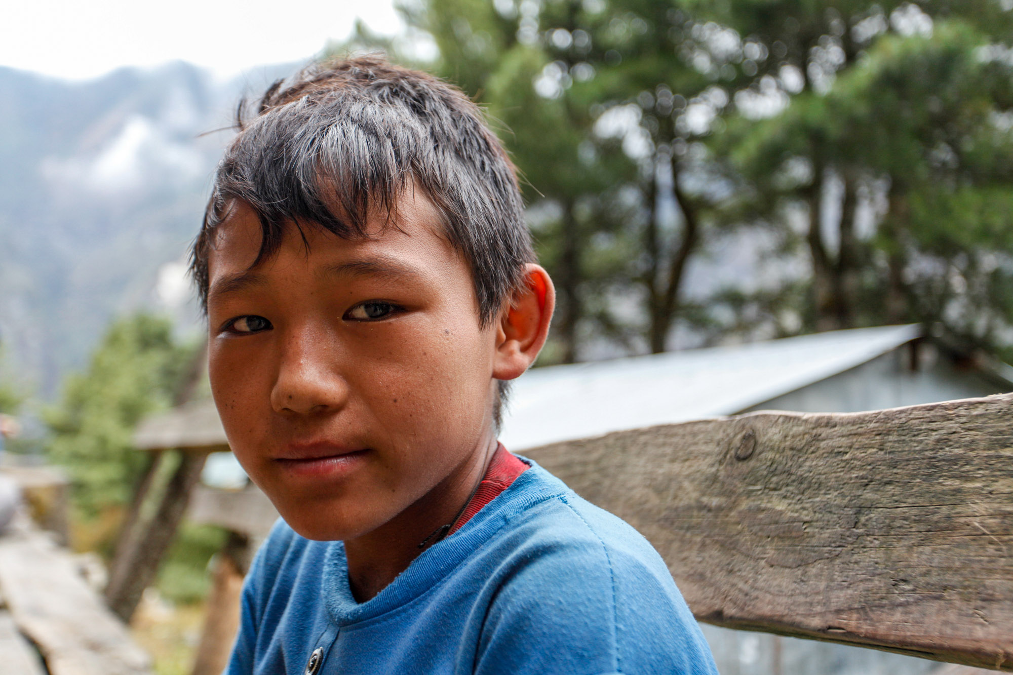 Portrait of Nepalese child in the Himalayas, Nepal | Travel Photography | Child Porter | Everst Base Camp Trek | Portrait Photography