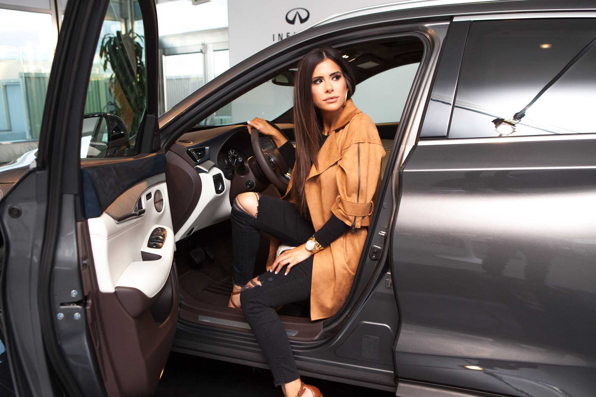 Emily Ann Gemma testing Infiniti QX-50 in showroom | Fashion Photography | Car Photography | Commercial Photography | @emilyanngemma | THE SWEETEST THING | @thegemmagang Shot in Los Angles, California for Crispin Porter + Bogusky