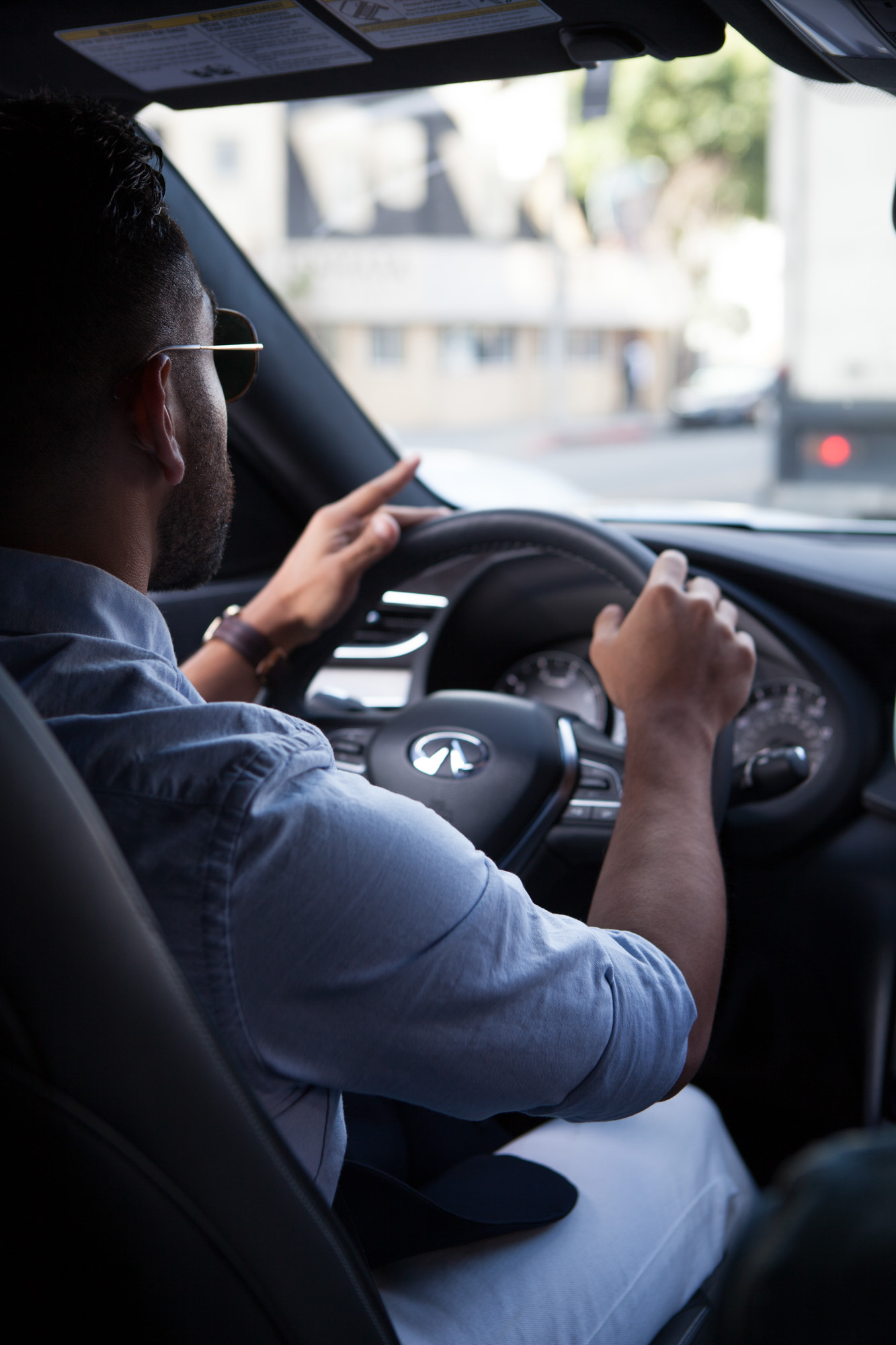 J Fig - @rule_of_thumbs driving Infiniti QX-50 | Car Photography | Commercial Photography shot in Los Angeles, California for Crispin Porter + Bogusky