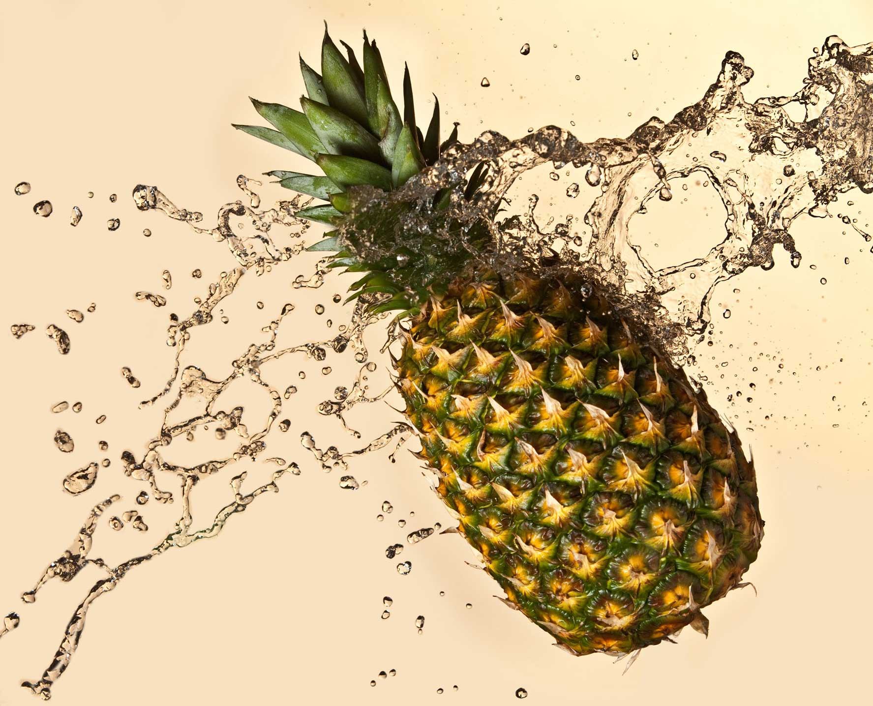 Splash Photography with pineapple and water | Shot in Denver, Colorado