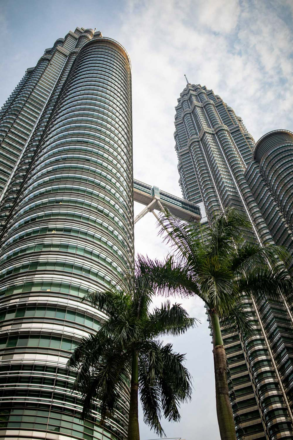 Petronas towers from bottom in Kuala Lumpur, Malaysia | Travel Photography